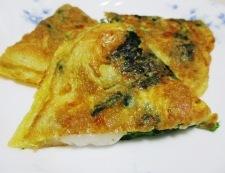 お餅のスパニッシュオムレツ 調理⑥