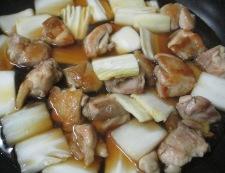 鶏肉としらたきの煮物<すき焼き風> 調理⑤