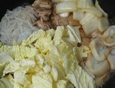 鶏肉としらたきの煮物<すき焼き風> 調理⑥