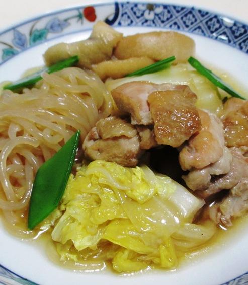 鶏肉としらたきの煮物<すき焼き風> B