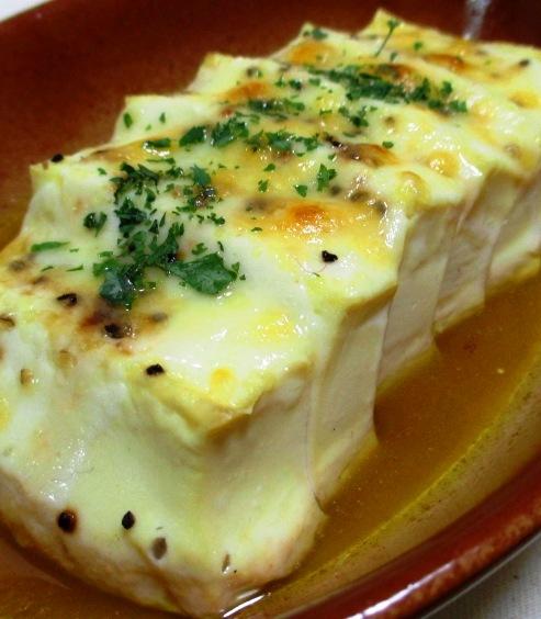 豆腐の醤油チーズ焼き 大