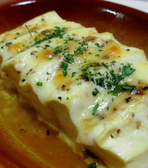豆腐の醤油チーズ焼き B