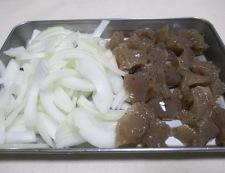 鶏皮とこんにゃくの生姜煮 調理①