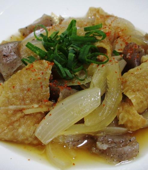 鶏皮とこんにゃくの生姜煮 大