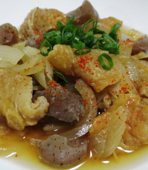 鶏皮とこんにゃくの生姜煮 B