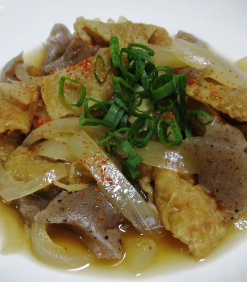 鶏皮とこんにゃくの生姜煮 拡大