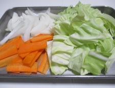 チルド焼売とキャベツの野菜あん 調理①