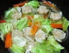 チルド焼売とキャベツの野菜あん 調理③