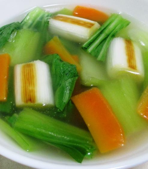 青梗菜と焼きねぎのスープ B