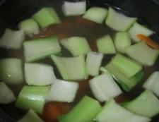 青梗菜のスープ 調理③