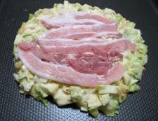 豚キムチのお好み焼 調理②