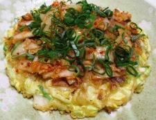 豚キムチのお好み焼 調理⑥