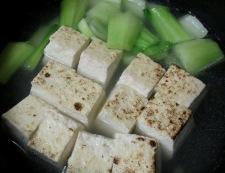 ツナと焼き豆腐のオイスターソース煮 調理③