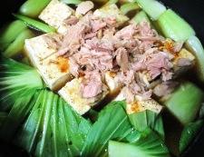 ツナと焼き豆腐のオイスターソース煮 調理⑤