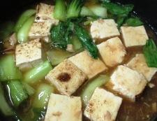 ツナと焼き豆腐のオイスターソース煮 調理⑥