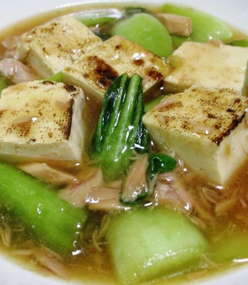 ツナと焼き豆腐のオイスターソース煮 大