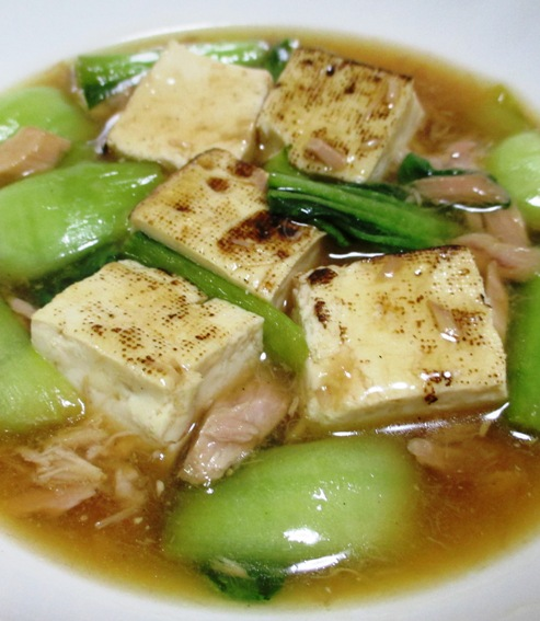 ツナと焼き豆腐のオイスターソース煮 B
