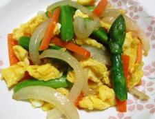 アスパラ炒り卵 調理⑥