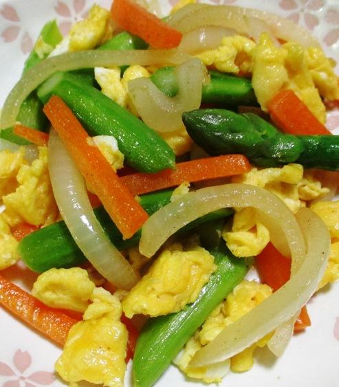 アスパラ炒り卵 B