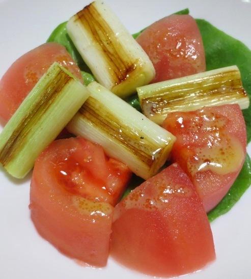 焼きねぎトマトサラダ 大