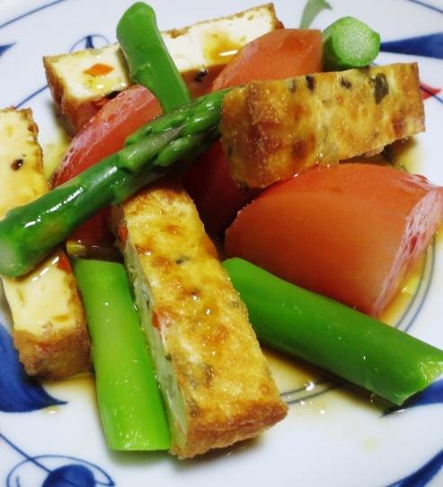 厚揚げとトマトのサラダ B