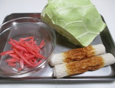 紅生姜キャベツ 調理①