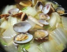 アサリと白菜の中華スープ煮 調理⑥