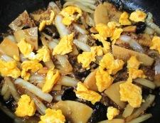 白菜と筍のそぼろ炒め 調理⑥