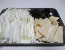 白菜と筍のそぼろ炒め 【下準備】①