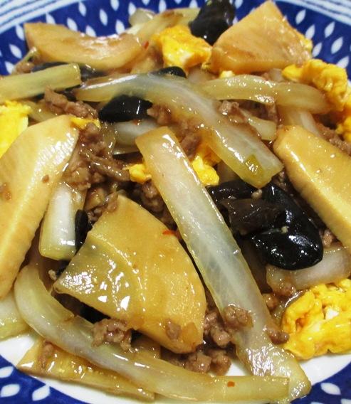 白菜と筍のそぼろ炒め B