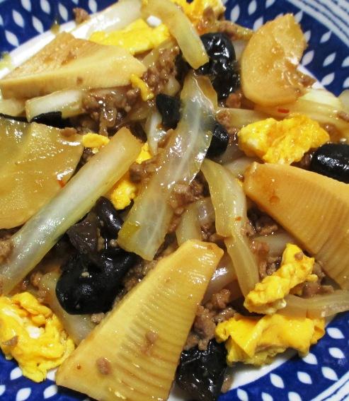 白菜と筍のそぼろ炒め 拡大