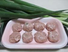 焼き豆腐と鶏だんごの煮物 材料②