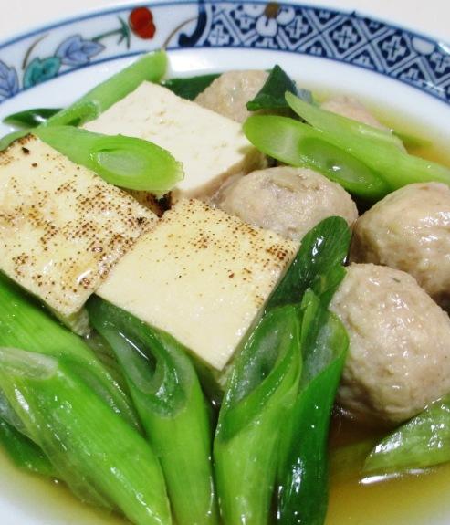 焼き豆腐と鶏だんごの煮物 拡大