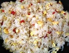 しらすとカリカリ小梅の炒飯 調理④