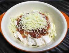 くずし豆腐のキムチチーズ焼き 調理③