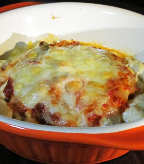 くずし豆腐のキムチチーズ焼き 拡大