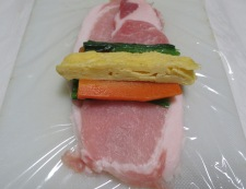 豚ロースのカラフルロールカツ 調理②