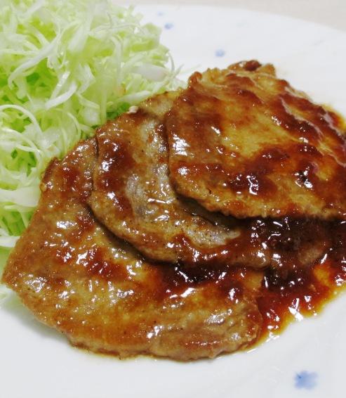 豚の梅肉焼き 拡大