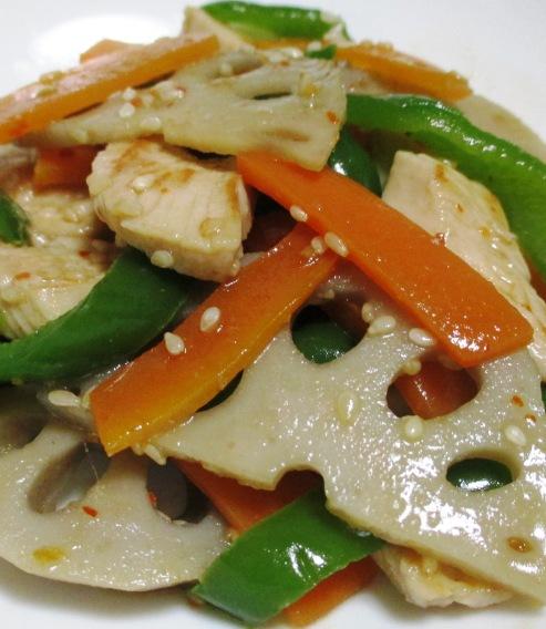 鶏むね肉とレンコンのピリ辛炒め 拡大