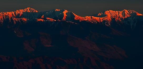 荒川・赤石岳夕景