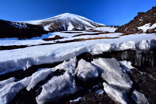 類似氷河に浮かぶ浅間山