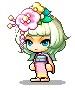 桃の花帽子