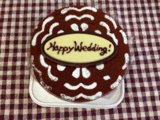 ご結婚祝いをチョコでね