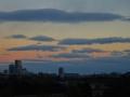 流れる雲と空