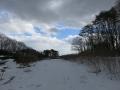 雪の原っぱ