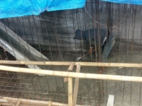 好気性処理槽の建設工事