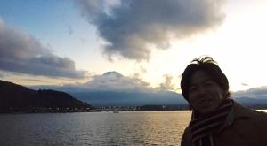 富士山と山縣有斗 2015
