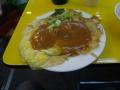 牡蠣入りオムレツ