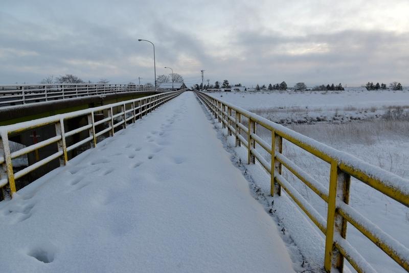 雪の歩道橋-1