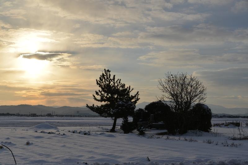 雪の朝日-3